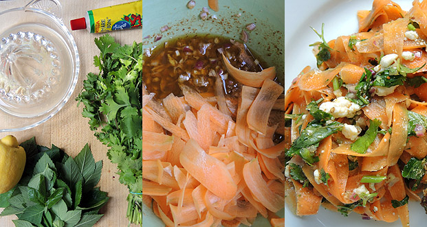 karotten familien salat salad from the carrot family. Black Bedroom Furniture Sets. Home Design Ideas