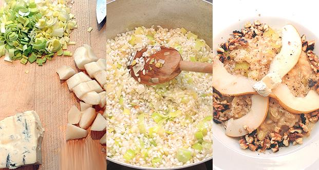 risotto with gorgonzola & pears – Risotto mit Gorgonzola und Birnen ...