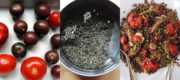 Linsen- Auberginen und Tomatensalat – salad with lentils eggplant and tomatos